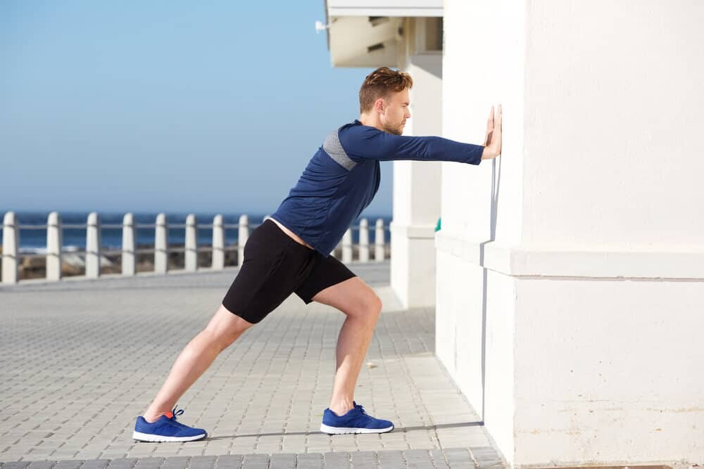 Pushing the wall exercise