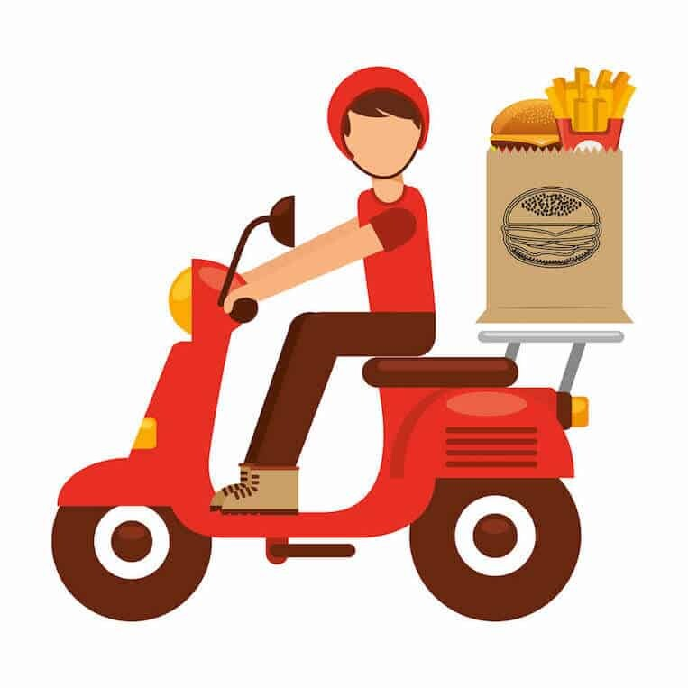 Fast Food delivery in south Korea
