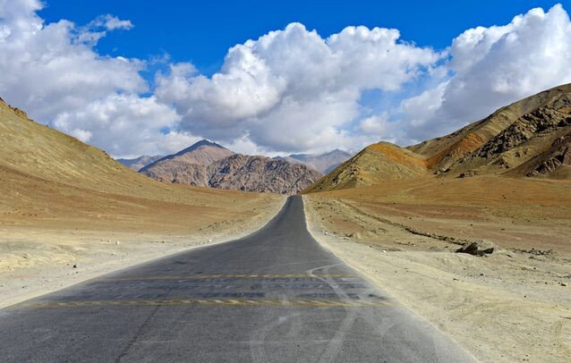 Magnetic Hill in Leh in India
